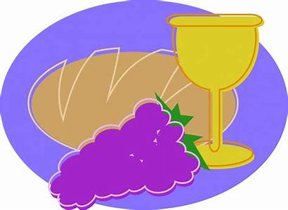 Communion Holy Clipart Bread Domain Breaking