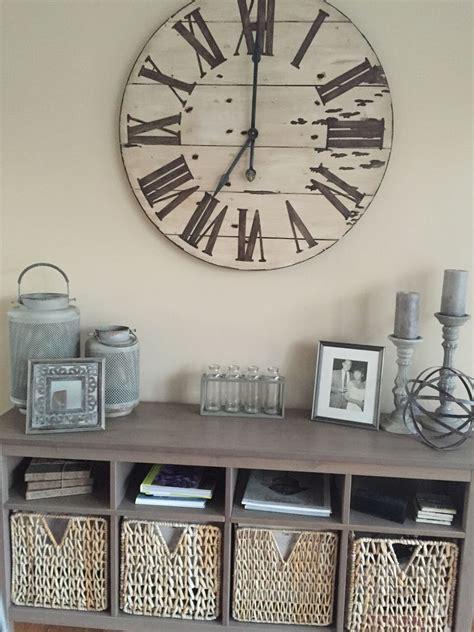 wall clock decor ideas  pinterest big clocks