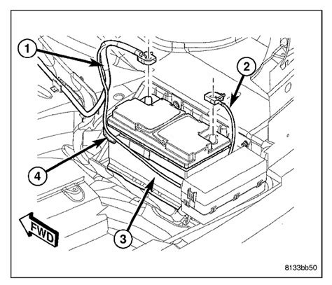 2005 Chrysler 300 Battery by Where Is The Chrysler 300 Touring Xls Battery Located