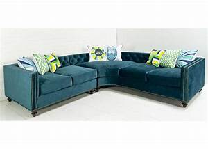 hollywood curved sectional in peacock velvet modshop With sectional sofa all modern