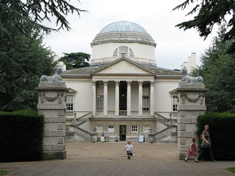 Front View Of Chiswick House From Http