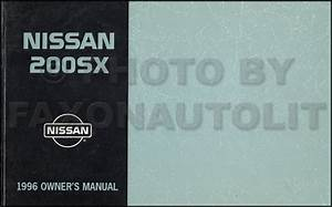 1996 Nissan Sentra  200sx Repair Shop Manual Original