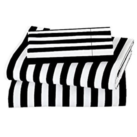 black and white sheets amazon com marrikas 600tc black stripe with white sheet set queen