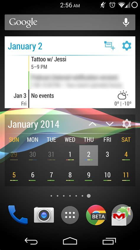 calendar widgets for android play app roundup event flow calendar widget the