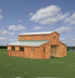 horse barns r g services With 30x30 shed