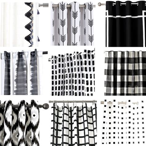 favorite black  white curtains cuckoodesign