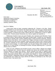 professional letter format example formal letter