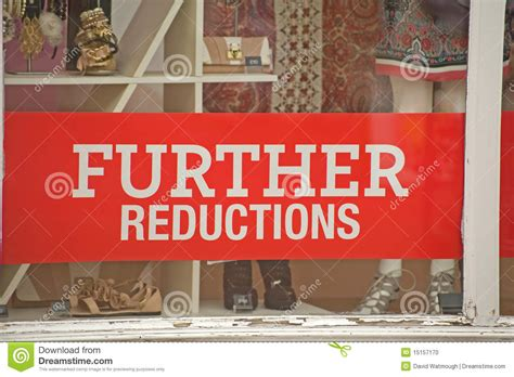 Signs Of Recession; Further Price Reductions. Stock Photo ...