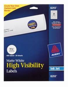 high visibility labels 8293 With avery 8293 labels