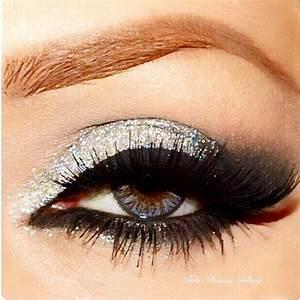Silver Glitter Smokey Eye Makeup - Makeup Vidalondon