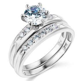 white gold  cz wedding ring set goldenminecom