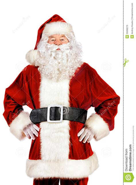 traditional santa claus ringing on traditional stock photo image 35098270