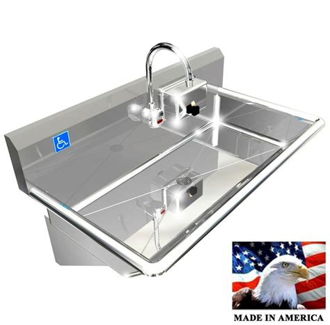 station  hand wash sink electronic faucet hands