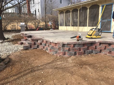 patio pavers hardscaping kansas city sk lawn and