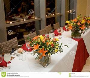 Banquet Table Place Settings Royalty Free Stock Images
