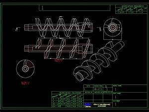 Screw Press Cad Drawing For Example In Autocad