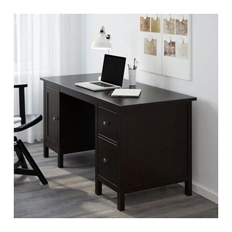 bureau hemnes hemnes bureau brun noir ikea