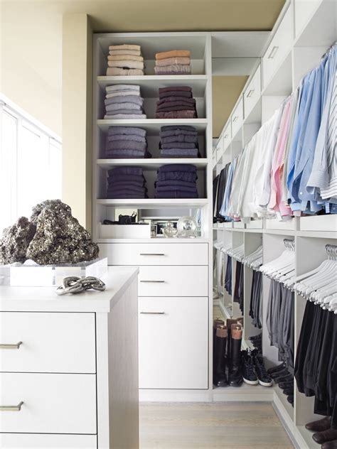 White Wooden Closet Plus Shelves And Hanging Space For