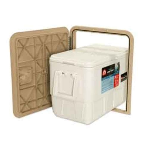 Boat Storage Hatch Doors by Innovative Product Solutions 1618 Custom Taupe Poly Boat