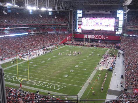 state farm stadium section  arizona cardinals rateyourseatscom