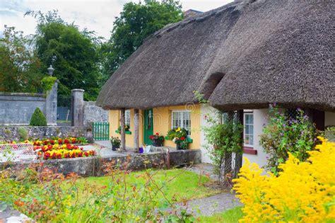 cottage in irlanda cottage thatched in irlanda fotografia stock immagine di