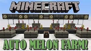 Fully Automatic Melon Farm - Minecraft Tutorial - YouTube