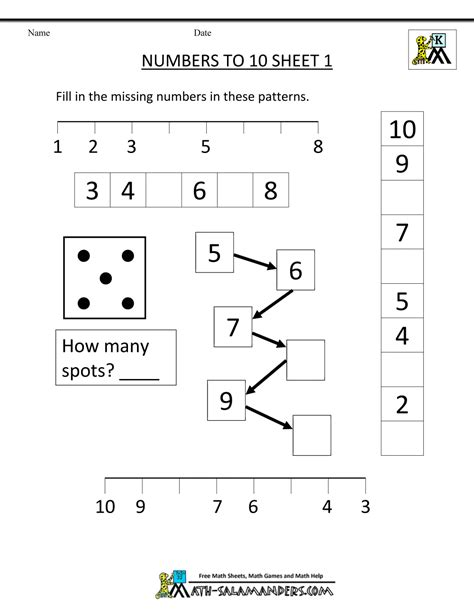 math preschool worksheets kindergarten number worksheets 827