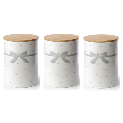 shabby chic canisters set of 3 vintage shabby chic tea coffee sugar kitchen storage jars pot container ebay