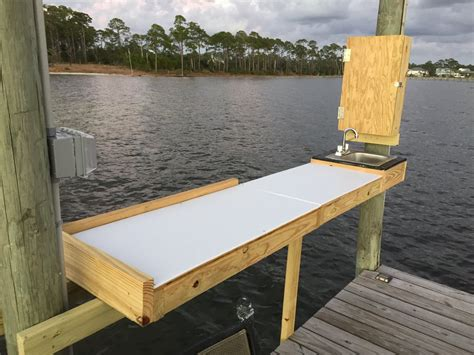 dock fish cleaning table build the hull boating and fishing forum