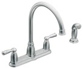 Replacement Kitchen Faucet Handles Moen 87000 Banbury Two Handle High Arc Kitchen Faucet With Sidespray In Chrome Traditional