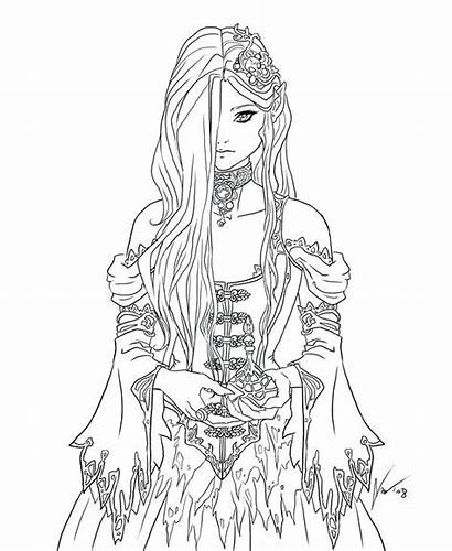 Coloring Pages Gothic Adults Goth Getdrawings