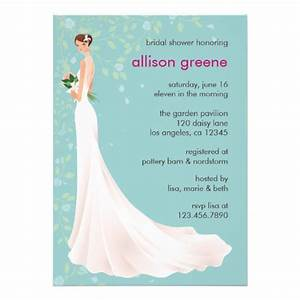 elegant bridal shower card 5quot x 7quot invitation card zazzle With personalized wedding shower invitations