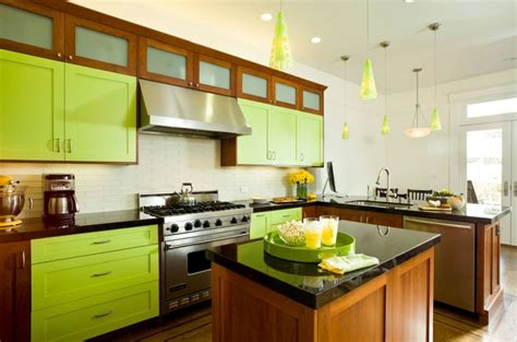 Invigorating Ways To Decorate With Green Kitchen Cabinets Backsplash Tiles For Kitchen Ideas Pictures Medallions Valspar Paint Colors Country Color Countertop Designs Photos Mexican Tile Brown Floor Drains