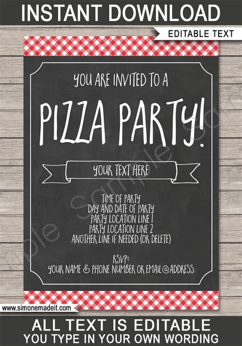 pizza party invitation template pizza party invite