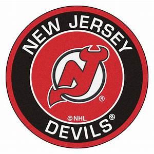 "New Jersey Devils Logo Roundel Mat - 27"""