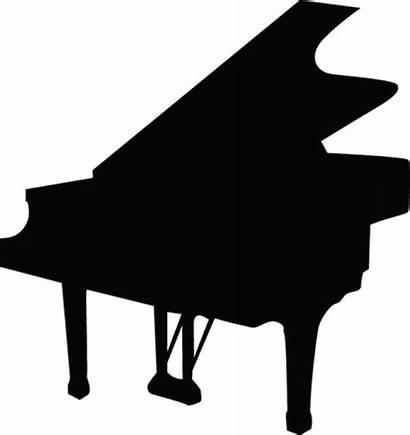 Piano Silhouette Clipart Clip Pianist Violin Keyboard