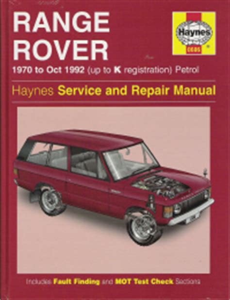 small engine repair training 1991 land rover range rover electronic valve timing 1970 1992 range rover gasoline engine haynes repair manual