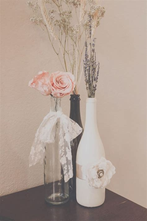 Diy Wedding Centerpieces With Roses Lavender Wheat And