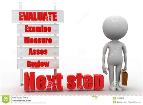 3d Man With Evaluate Examine Measure Review Stock ...