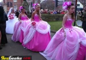 bad bridesmaid dresses bridesmaid dresses pink poufs 2 onewed