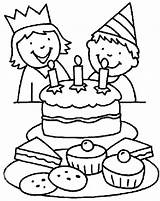 Coloring Birthday Boy Drawing Cake Smiling Happy Chocolate Balloons Colouring Candle Blow Holding Netart Celebrate Cartoon Drawings Kid Three Candles sketch template