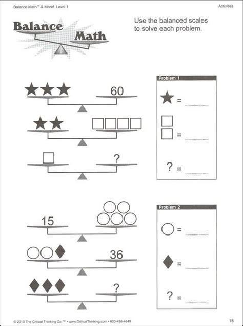 Solving Two Step Equations With Balancing Scales Worksheet  Google Search  Math Enrichment