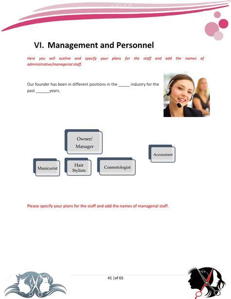 hair salon business plan template sample pages black box