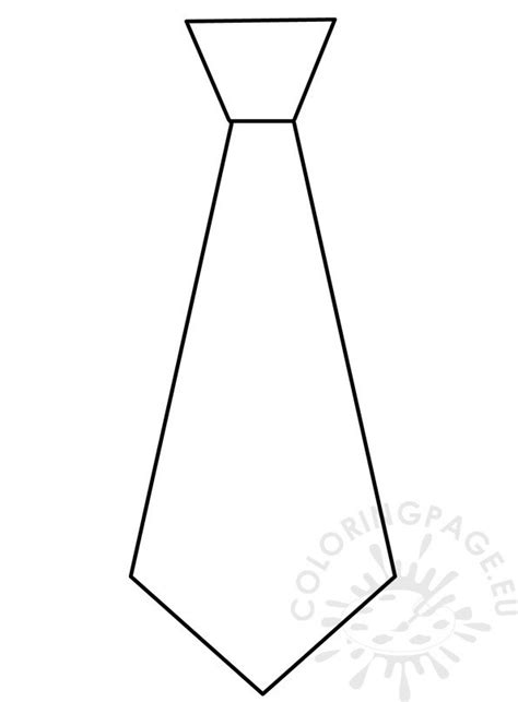 fathers day  craft necktie pattern coloring page