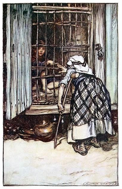 Hansel Rackham Arthur Gretel Knuckle Grimm Tales