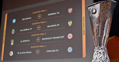 europa league quarter final draw arsenal draw