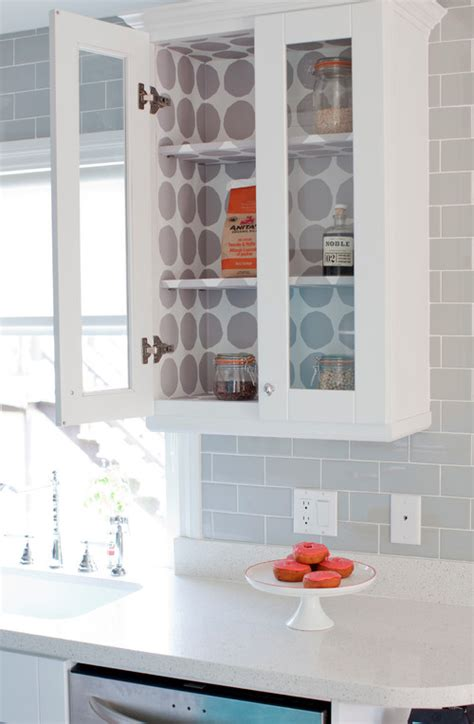 paper to line cabinets 20 inexpensive ways to fix up your kitchen the art in life