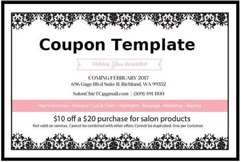 coupon template  word templates