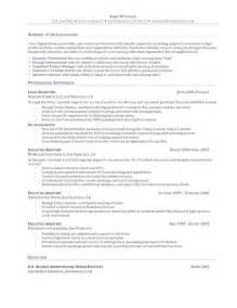 executive assistants resume sles resume objective for executive assistant resume exles 2017