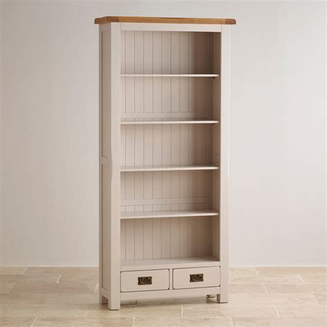 Painted Bookcases Uk by Kemble Large Bookcase In Painted Rustic Solid Oak